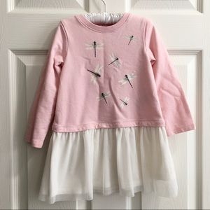 BabyGap Blush Pink Dragonfly Long Sleeves Dress 3T